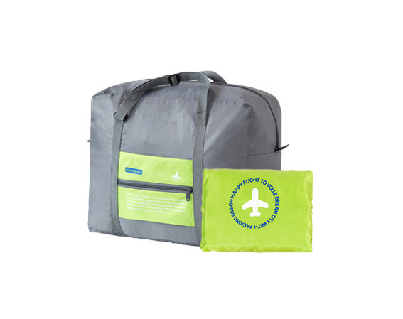 Bolso plegable viaje (verde) / Folding green travel bag