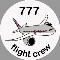 B-777 Qatar Airways Sticker