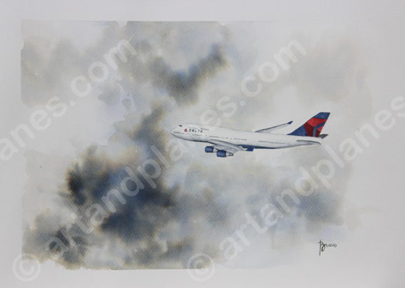 B747 Delta Air Lines Painting