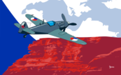 Ilustración Česká republika - Avia S-199 (Serie Banderas/Flag series) Illustration