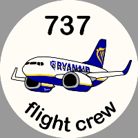 B-737 Ryanair Sticker