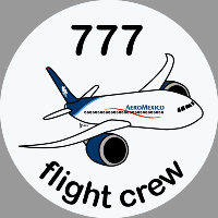 B-777 Aeroméxico Sticker