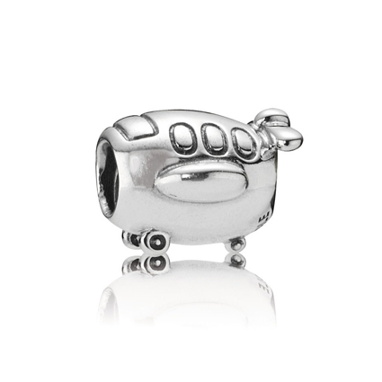 Charm Pudgy Airplane (Plata/Silver)