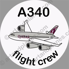 A340 Qatar Sticker