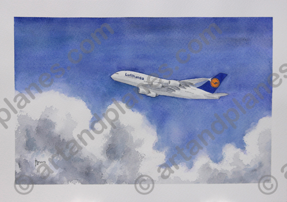 A380 Lufthansa Painting