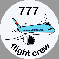 B-777 Korean Air Sticker