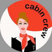 Cabin crew (red) Sticker